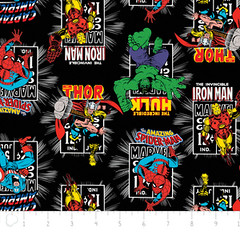 """(Camelot Cottons) Marvel Comic II, Action In Black • <a style=""""font-size:0.8em;"""" href=""""http://www.flickr.com/photos/132535894@N06/18143449524/"""" target=""""_blank"""">View on Flickr</a>"""