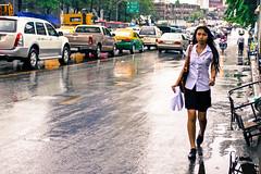 Rain (Max Peter1) Tags: cute sexy rain canon traffic bangkok thaigirl bangkokstreet