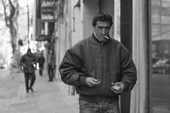 Street Portrait #6 Smoker (Alvimann) Tags: street city portrait people blackandwhite man black men blancoynegro blanco contrast portraits canon uruguay photography 50mm photo calle foto faces gente photos expression retrato smoke cara expressions pedestrian ciudad retratos fotos contraste pedestrians caras montevideo fotografia canon50mmf18 f18 18 smoker 50 fumar hombre rostro fac cigarrette hombres greyscale fumo cigarrillo fumando canon50mm expresion expresiones altocontraste escaladegrises niftyfifty alvimann