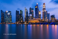 The Central Business District (Ram Suson Photography) Tags: city marina bay singapore district central business hsbc merlion dbs raffles marinabay esplanadebridge onerafflesplace singaporecentralbusinessdistrict