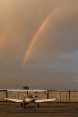 (Trent Bell) Tags: california sunset airport rainbow afterthestorm aircraft cable socal upland 2015