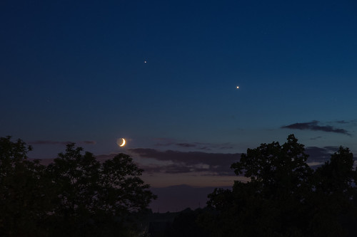 Venus, Moon and Jupiter on 20th June 2015