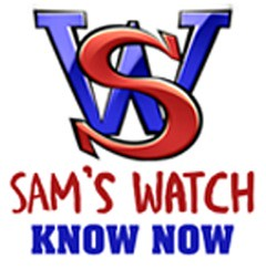 Sam's Watch Know Now logo