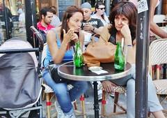 2015-06-27   Paris - Rue Montorgueil - Esplanade Saint-Eustache (P.K. - Paris) Tags: street people paris café june french juin terrace candid terrasse sidewalk 2015