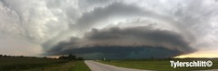 Monster shelf close near Quincy IL (TylerSchlittPhotography) Tags: blue black green rotating leadingedge shelfcloud strongwinds severethunderstormwarning