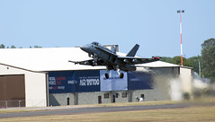 Boeing F/A-18 Hornet Finnish Airforce display (adam.court89) Tags: nikon hurricane airshow f16 eurofighter spitfire vulcan typhoon osprey hawker avro mig29 supermarine bbmf fightingfalcon fulcrum xh558 nikon70300vr d3300 riat2015