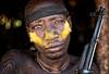 ethiopia - omo valley (mauriziopeddis) Tags: mursi africa tribe tribù ethiopia etiopia ritratto portrait rifle yellow village canon leica sl