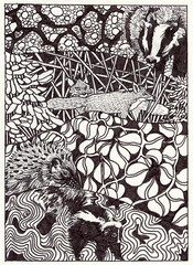 Camouflaged Animals Coloring Page (molossus, who says Life Imitates Doodles) Tags: zentangleinspiredart coloring page stillmanbirn deltaseries softcover nature outdoors