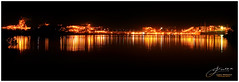 Kooragang Island at Night (juliewilliams11) Tags: outdoor photoborder night industry lights reflection landscape river ship newsouthwales australia island