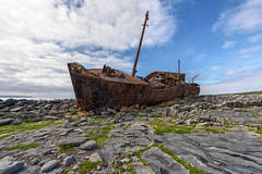 The Plassey Shipwreck - Misfortune or Divine Intervention? (Gareth Wray - 9 Million Views - Thank You) Tags: boat ship wreck stranded plassey plassy aran arann island islands inisheer inis oirr craggy father ted famous attraction galway abandoned strand vessel fishing bay beach ocean sea landscape seascape monument landmark tourist tourism wild way tourists historic history visit ireland irish gareth wray photography strabane hd fox hdfox nikon d810 nikkor 1424mm sun sand dry stone walls limestone pavement fractured atlantic water vacation sunset burren