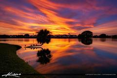 Lake Catherine Sunset Killer Sky Colors (Captain Kimo) Tags: captainkimo exposureblending florida hdrphotography lakecatherine palmbeachgardens southflorida sunset clouds sky