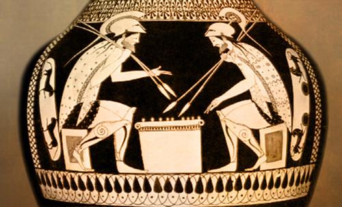 "Petteia - Ludus Latrunculorum  / Iconografía de las civilizaciones helenolatinas • <a style=""font-size:0.8em;"" href=""http://www.flickr.com/photos/30735181@N00/31710156333/"" target=""_blank"">View on Flickr</a>"