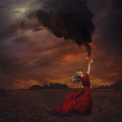live in your power (brookeshaden) Tags: magicalrealism surrealphotography blacksmoke fire selfportrait atmospheric liveinyourpower