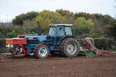 Ford 8830 PowerShift Tractor with an Amazone Power Harrow & an Accord Pneumatic DF1 Seed Drill (Shane Casey CK25) Tags: ford 8830 powershift tractor amazone power harrow accord pneumatic df1 seed drill nh cnh blue castletownroche newholland winter barley sow sowing set setting drilling tillage till tilling plant planting crop crops cereal cereals county cork ireland irish farm farmer farming agri agriculture contractor field ground soil dirt earth dust work working horse horsepower hp pull pulling machine machinery grow growing nikon d7100 traktor tracteur traktori trekker trator ciągnik onepass one pass