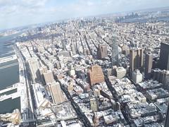 Aerial View, Snow View, Lower Manhattan,Tribeca, Hudson River, One World Observatory, World Trade Center Observation Deck, New York City (lensepix) Tags: aerialview snowview oneworldobservatory worldtradecenterobservationdeck newyorkcity observationdeck snow winter