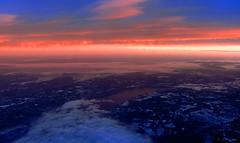Oslo (amazingstoker) Tags: oslo norway snow sunset descent flight lhr ice cloud red osl sea window ba766