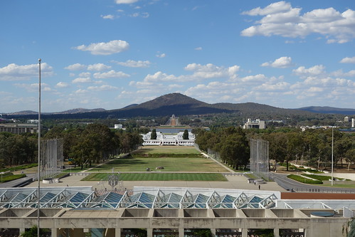 Mount Ainlsie from the Parliament of Australia