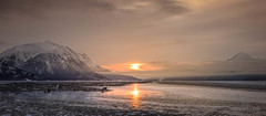Briefly (Traylor Photography) Tags: alaska tide sunrise winter snowadvisory cloudy mountains iceflow indian snow weather turnagainarm anchorage unitedstates us