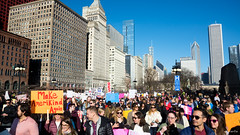 Make AmeriKind Again (Andy Marfia) Tags: chicago loop womensmarch protest march equality resitance skyline d7100 1685mm 1500sec f8 iso100