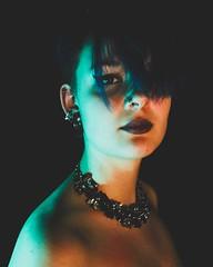 Studio (leadcq_) Tags: colors blue orange percing dark nude bra black