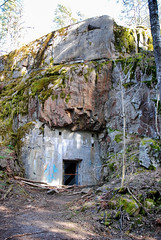 (Sameli) Tags: world door old winter urban 6 snow abandoned rock wall suomi finland 1 helsinki war exterior exploring entrance tunnel storage doorway bunker opening cave ww1 viii shelter exploration 1915 base ue urbex viii6