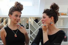 Collana, anelli e orecchini sushi