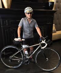 Ted in Rachel's Lobby (Mr.TinDC) Tags: ted me bike bicycle seven mrt sven roadbike sevenaxiom mrtindc