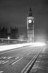 Stroke of Midnight (gingerworm) Tags: street longexposure travel england blackandwhite white black london clock beautiful westminster beauty architecture night canon wow amazing long exposure time bigben nighttime lighttrails nightscene lovely westminsterbridge nightonearth 24105l canon24105l canon6d