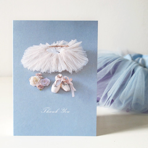 Greetings Card designed by Something For The Girls using costumes and accessories from The Royal Ballet wardrobe. 2013.