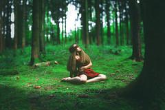 Clara (jakub.bak_photowork) Tags: red green forest moss model woods dress outdoor