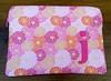 Fucshia Dahlias - monogrammed (KinokoKreations) Tags: pink dahlia monogram laptop electronic sleeve