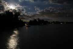 IMG_4152 (tim3289) Tags: ohio moon lake water night july calm moonrise indianlake bluemoon