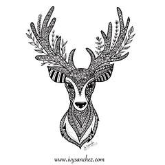 Cute Little Deer (ivysanchez14) Tags: art arte artwork artoftheday zentangle zendoodle mandala deer handmade