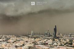 Kuwait - Tsunami Of Blasting Sand (Sarah Al-Sayegh Photography | www.salsayegh.com) Tags: kuwait canoneos5dmarkiii leefilters stateofkuwait photography landscape clouds wwwsalsayeghcom infosalsayeghcom sarahhalsayeghphotography sunset skyline haboob sandstorm