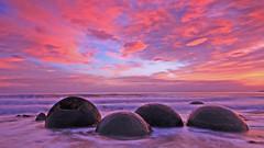 Moeraki Boulders (Explore 1/1/17) (Alan McIntosh Photography) Tags: sunrise landscape beach sky moeraki