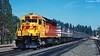 Kodachrome at Colfax (C.P. Kirkie) Tags: southernpacific sp sdp45 amtrak california colfax donnerpass amtk spsf overlandroute railroads trains passengertrain