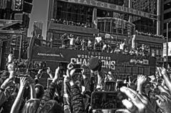 World Champions (tacosnachosburritos) Tags: chicago cubs crowd parade man guy fan woman girl lady autumn baseball north michigan avenue rally chick kids championship world series champs 2016 cheers applauds anticipation joy happy street photography thestreets glory magnificentmile players bus trolley humanity humanrace people