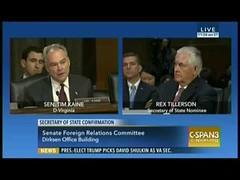 Senator Tim Kaine asks Rex Tillerson about Exxon, climate knowledge (9dope) Tags: asks climate exxon kaine knowledge rex senator tillerson tim