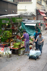 DSC_7367 (SleepingSeasons) Tags: hongkong asia travel hk streetphotography street streetphotog market central trolley fruits vegetables marketstall fruitstand nikon nikond610 d610