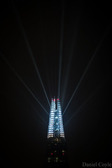 Laser Show (Explored 19/12/16) (Daniel Coyle) Tags: lasershow theshard theviewfromtheshard laser cancercentre guyshospital lights guys hospital london londonnight londonskyline longexposure night nightphotography nightonearth nightshot danielcoyle nikon nikond7100 d7100