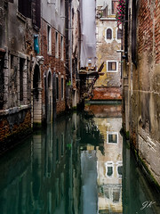 Venetian Canals, Italy (podrozuje) Tags: architecture blue boat brick brown building canals city corridor dirstict europe flooded gondola grand green heritage icon italian italy landmark old orange outdoors place reflection roman scenic sightseeing structure tourist track traffic vaporetti venice view water white window world yellow