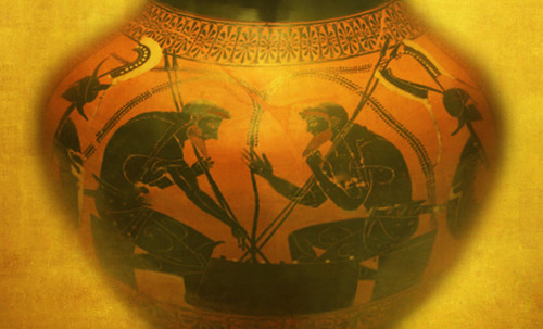 "Petteia - Ludus Latrunculorum  / Iconografía de las civilizaciones helenolatinas • <a style=""font-size:0.8em;"" href=""http://www.flickr.com/photos/30735181@N00/31678492234/"" target=""_blank"">View on Flickr</a>"