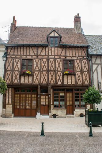 Maison traditionnelle au centre-ville d'Amboise