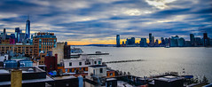 View of One World Trade Center Manhattan and Jersey City NJ from Whitney Museum of American Art at sunset - New York City NY (mbell1975) Tags: newyork unitedstates us view one world trade center manhattan jersey city nj from whitney museum american art sunset new york ny nyc usa america skyscraper skyscrapers office building buildings newjersey