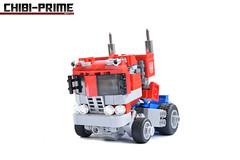6. Chibi-Prime Truck Iso (Sam.C MOCs (S2 Studios)) Tags: lego transformers optimus prime chibi moc mech robot anime scifi car truck