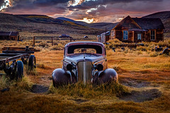 Colors of Decay, Arrested (Jeffrey Sullivan) Tags: sunset wet rusty car bodie state historic park night photography workshop eastern sierra bridgeport california usa nature landscape canon 5dmarkiii photo copyright 2012 september 22 jeffsullivan allrightsreserved abandoned ruraldecay colorful unitedstates photomatixpro