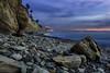 Pacific Peach (MarcLorence) Tags: landscape photography ocean beach shore sea water city rocks sunset sky dslr exposure blending exposureblending landscapephotography