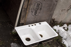 The Kitchen Sink (ptmarctm ©) Tags: sink found city street streetphotography still life urbannature decay old winter trash nikon nikond90 d90 brocton new york westernny western ny wny 716 chautauqua
