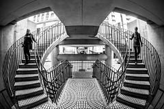The Echoes of Architecture (Thomas Hawk) Tags: america california embarcadero embarcaderocenter financialdistrict johnportman sanfrancisco suzannehaggerty usa unitedstates unitedstatesofamerica architecture bw fav10 fav25 fav50 fav100