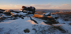 Winter on Higger Tor (andy_AHG) Tags: peak district derbyshire outdoors beautiful scenery british countryside pennines hills moors edges pursuits hathersage moor higger tor yorkshire landscapes burbage valley winter snow cold snowy landscape outdoor rock formation frost carl wark mountain ridge sport